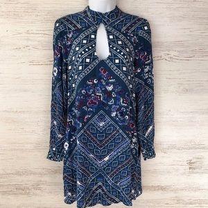EXPRESS NWT Long Sleeve Mock Neck Floral dress